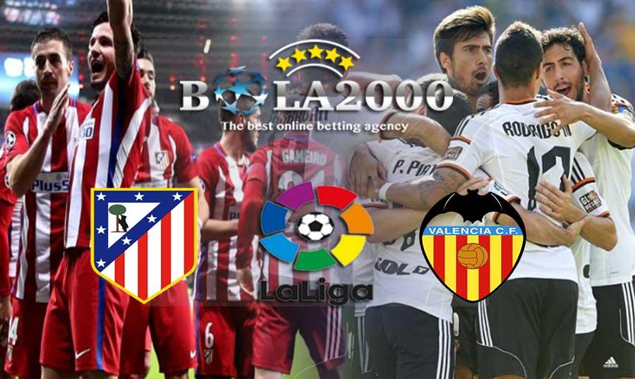 Prediksi Skor Bola Jitu Atletico Madrid vs Valencia 05 Februari 2018
