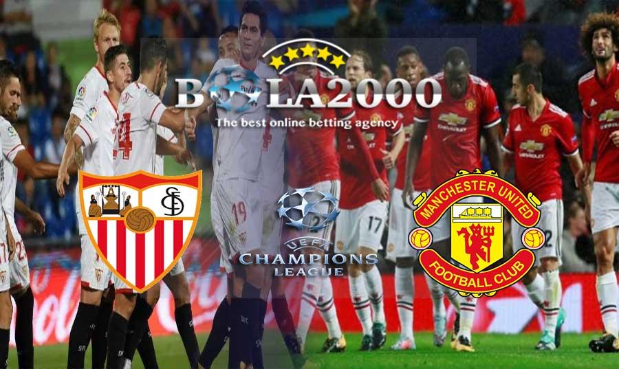Prediksi Bola Liga Champions Sevilla vs Manchester United 22 Februari 2018