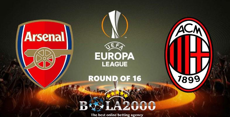 Prediksi Bola Liga Eropa Arsenal vs AC Milan 16 Mar' 2018