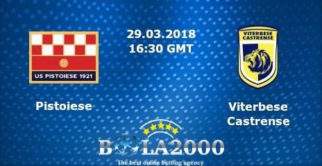 Prediksi Skor Pistoiese vs Viterbese 29 Mar' 2018