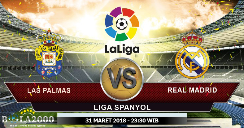 Prediksi Skor Bola Las Palmas vs Real Madrid 31 Mar' 2018
