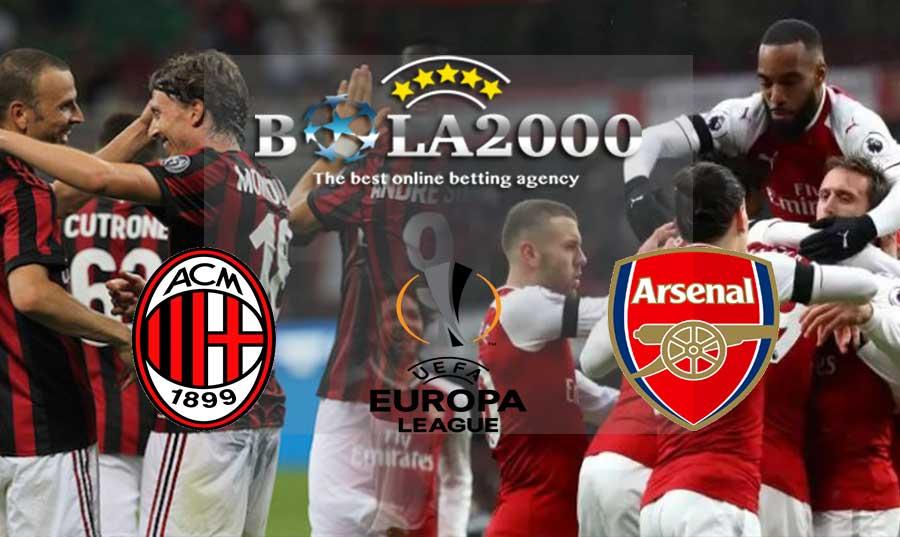 Prediksi Bola 09 Maret 2018 Liga Europa AC Milan vs Arsenal
