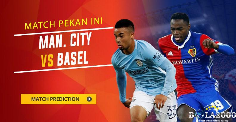 Prediksi Skor Bola Manchester City vs Basel 8 Mar' 2018