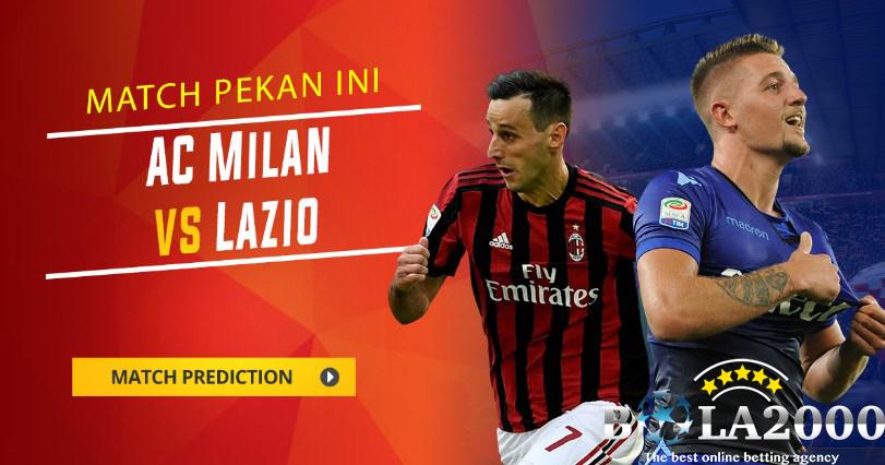 Prediksi Bola Liga Italy AC Milan vs Lazio 29 Januari 2018