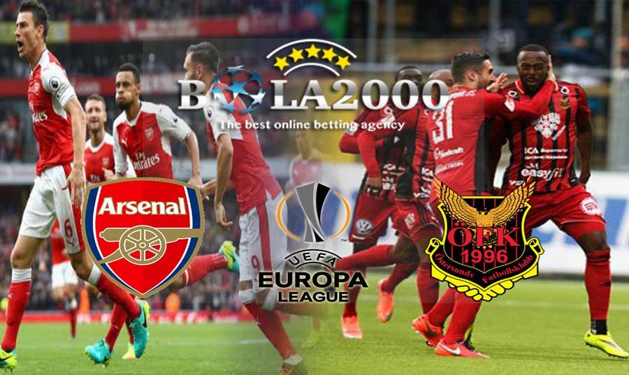 Prediksi Bola Europa League Arsenal vs Ostersunds 23 Februari 2018