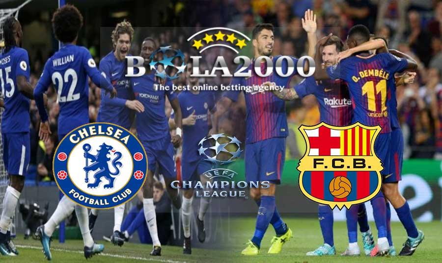 Prediksi Bola Liga Champions Chelsea vs Barcelona 21 Februari 2018