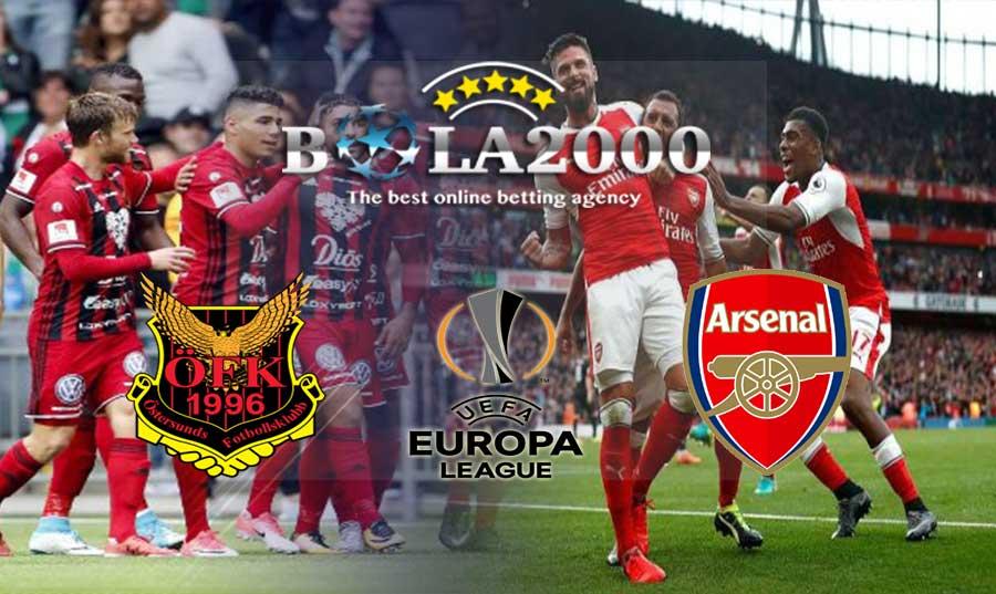 Prediksi Bola Europa League Oestersunds vs Arsenal 16 Februari 2018