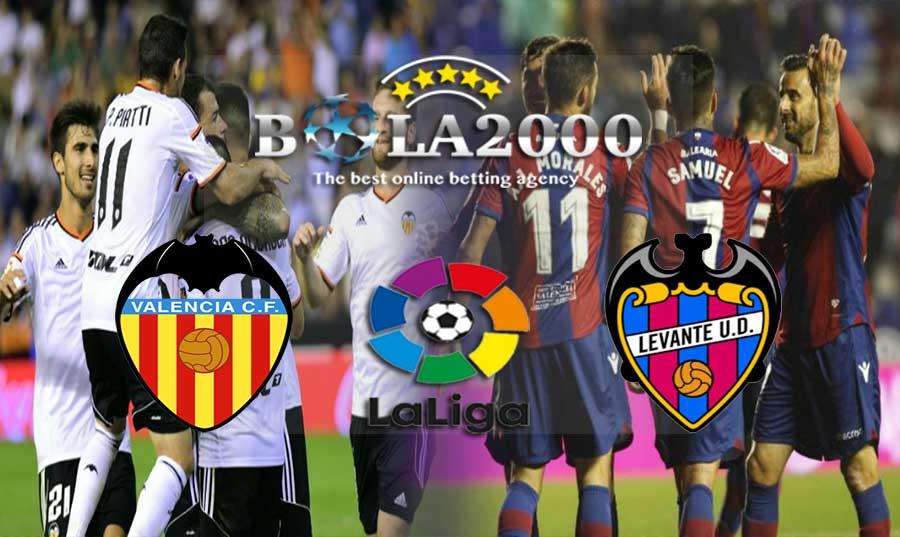 Prediksi Bola Valencia vs Levante 12 Februari 2018
