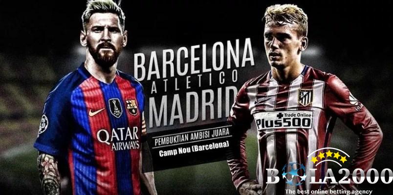 Prediksi Bola Liga Spanyol Barcelona vs Atletico de Madrid 4 Mar' 2018
