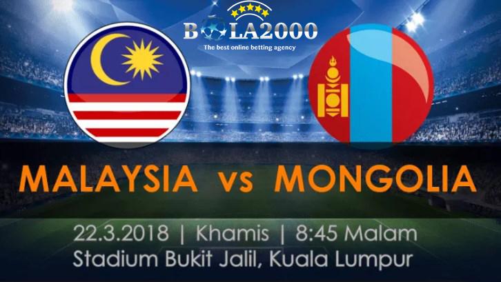 Prediksi Bola Liga Internasional Malaysia vs Mongolia 22 Mar' 2018