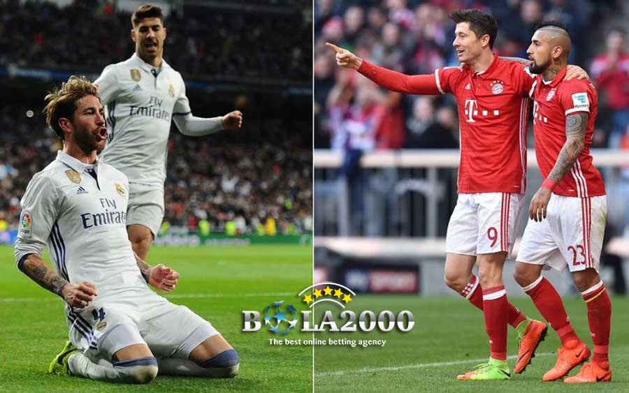 Leg Kedua Liga Champions antara Real Madrid vs Bayern Munchen