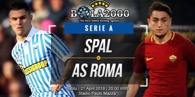Prediksi Skor Bola SPAL vs AS Roma 21 Apr' 2018