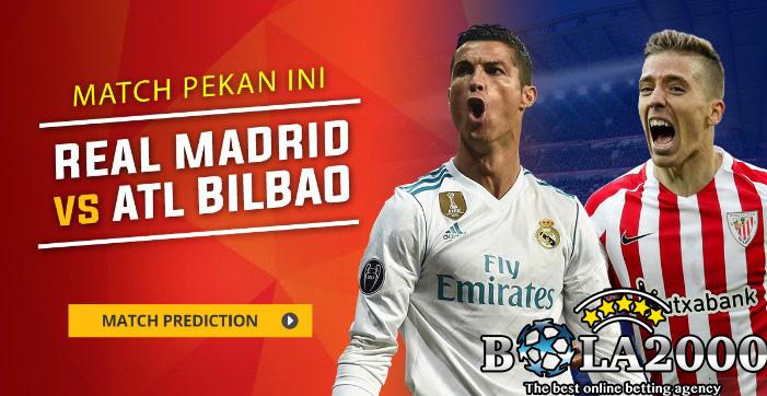 Prediksi Skor Bola Real Madrid vs Athletic Bilbao 19 Apr' 2018