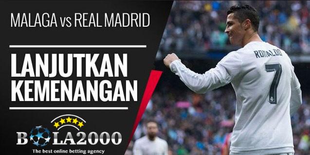 Prediksi Skor Bola Malaga vs Real Madrid 16 Apr' 2018