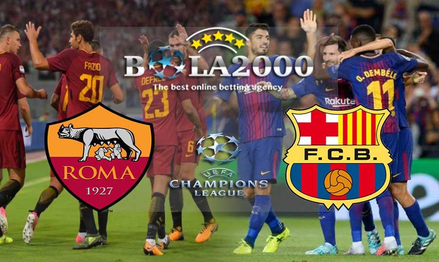 Prediksi Bola 11 April 2018 Liga Champions AS Roma vs Barcelona